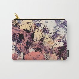 Brilliance: vibrant, colorful and textured in purple, gold, pink, blue, and white Carry-All Pouch