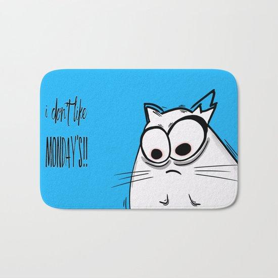 Noodles the Cat doesn't like Mondays Bath Mat