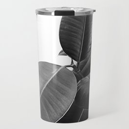 Ficus Elastica #23 #BlackAndWhite #foliage #decor #art #society6 Travel Mug