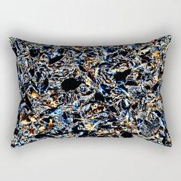 Gold & Blue Rectangular Pillow