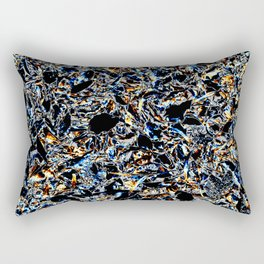 Gold & Blue Rectangular Pillow