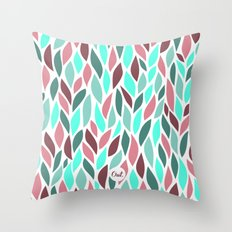out leaves Throw Pillow