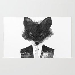 minima - dapper fox   noir Rug