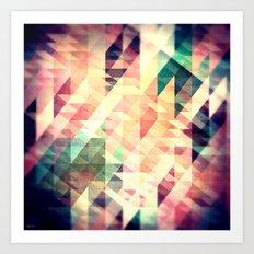 Textured Geometric Abstract Art Print