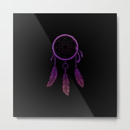 Dream Catcher Purple Metal Print