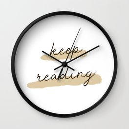 Keep Reading - Natural Wall Clock