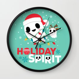 Holiday Spirit Wall Clock