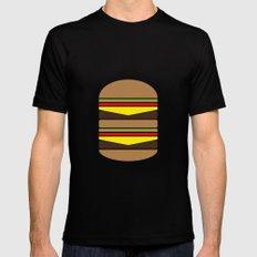 Burger Illustration Black MEDIUM Mens Fitted Tee