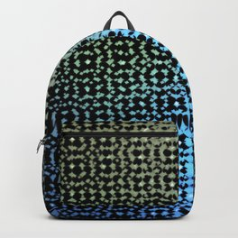 Colorful pattern on a black background. Backpack