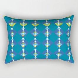 oriental blue cubes Rectangular Pillow