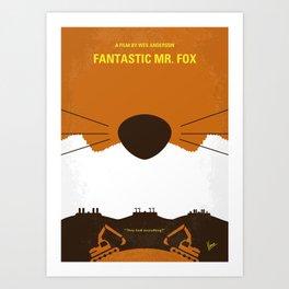No673 My Fantastic Mr Fox minimal movie poster Art Print