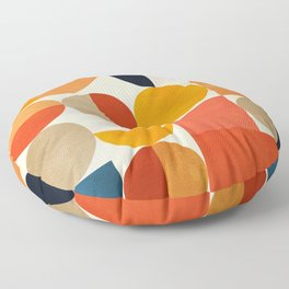 geometric abstract shapes autumn Floor Pillow