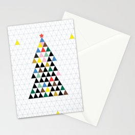 Geometric Christmas Tree Stationery Cards