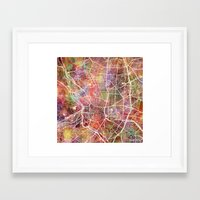 madrid Framed Art Prints featuring Madrid by MapMapMaps.Watercolors