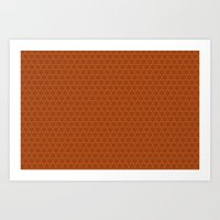 Oranges Pattern Art Print
