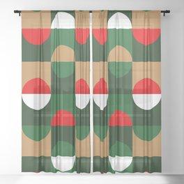 Christmas Geo Sheer Curtain