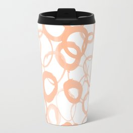 Watercolor Circle Peach Travel Mug
