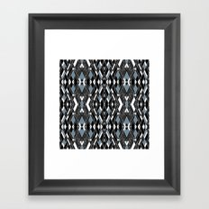 Art Deco Blue Framed Art Print