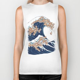 The Great Wave of Chihuahua Biker Tank