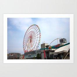 Odaiba's Palette Town and Ferris Wheel Art Print