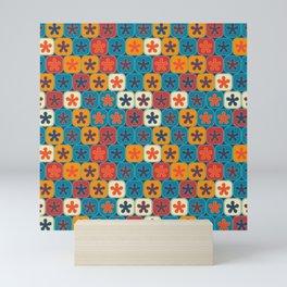 Blobs and tiles Mini Art Print