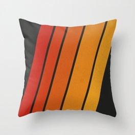 Retro 70s Stripes Throw Pillow