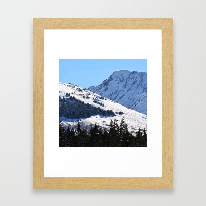 Back-Country Skiing  - I Framed Art Print