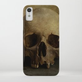 Male skull in retro style iPhone Case