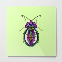 Bejeweley beetle cool lime Metal Print