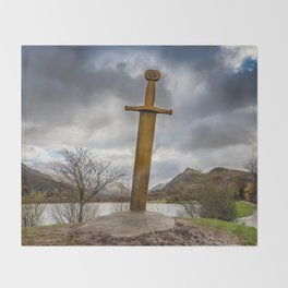 Sword of Llanberis Snowdonia Throw Blanket