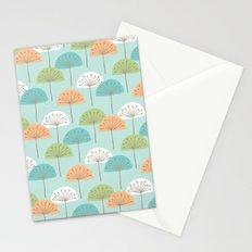 wispy flowers Stationery Cards