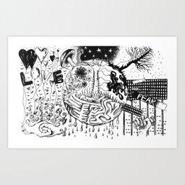 LOVE or FEAR Art Print