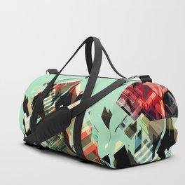 Urban Scape Fragments Duffle Bag