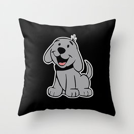 Puppy Wants To Play Throw Pillow