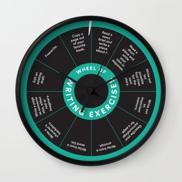 Wheel o' Writing Exercises Wall Clock