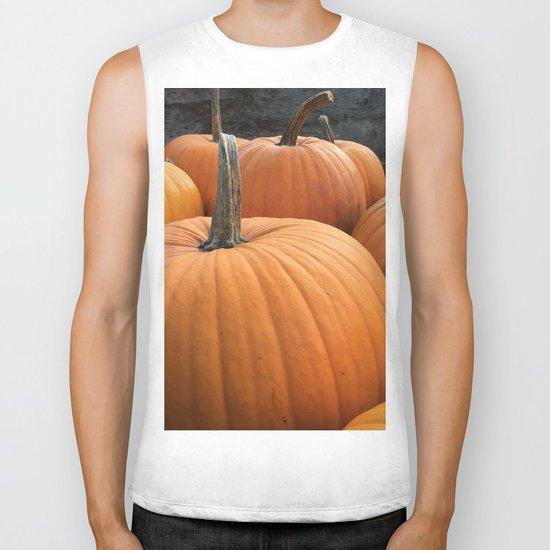 Halloween pumpkins Biker Tank