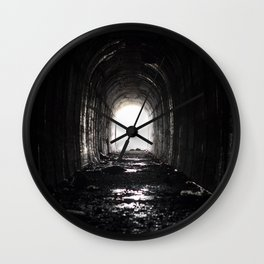 An Abandoned Tunnel Wall Clock