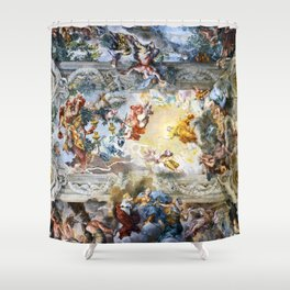 Allegory of Divine Providence and Barberini Power by Pietro Cortona (1639) Shower Curtain