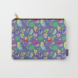 Parakeet floral Carry-All Pouch