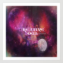 Creative Soul Moon Art Print
