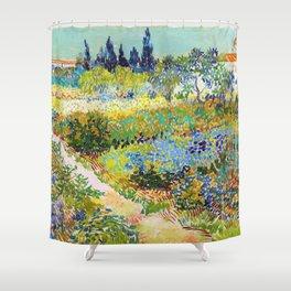 12,000pixel-500dpi - Vincent van Gogh - Garden At Arles, Flowering Garden With Path Shower Curtain