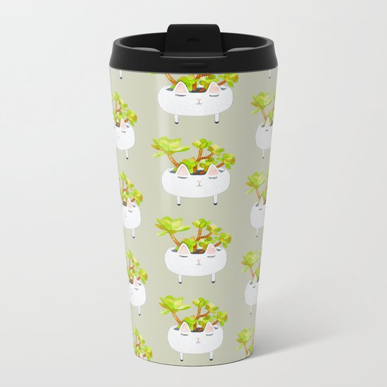 Kawaii succulents Metal Travel Mug