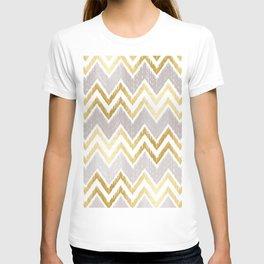 Gold Chevron Pattern 01 T-shirt