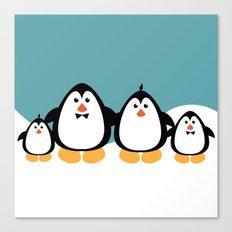 NGWINI - penguin family v4 Canvas Print