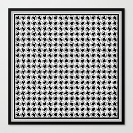 Black and White Wiggles Canvas Print