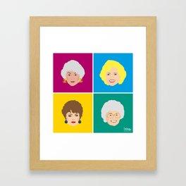 The Golden Girls - Pop Art Style Framed Art Print