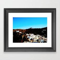 Mykonos village Framed Art Print