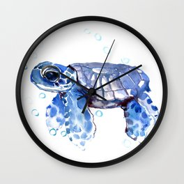Baby Blue Turtle Wall Clock