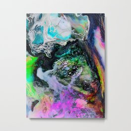 Abstract Melt III Metal Print