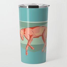 Greyhound on light. Travel Mug